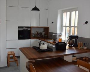 Küche / Massivholz Arbeitsplatte Iroko